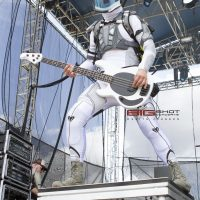 Ron DeChant of Starset performs at Fort Rock 2017