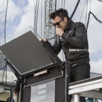 Vocalist Dustin Bates of Starset performs at Fort Rock 2017