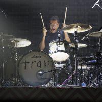 Train drummer performing at Perfect Vodka Amphitheatre