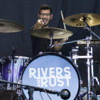 Drummer Richie Martinez of Rivers and Rust