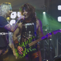 Singer and guitarist of Steel Panther perform at Culture Room