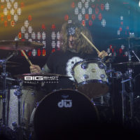 Stix Zadinia of Steel Panther plays drums at the Culture Room
